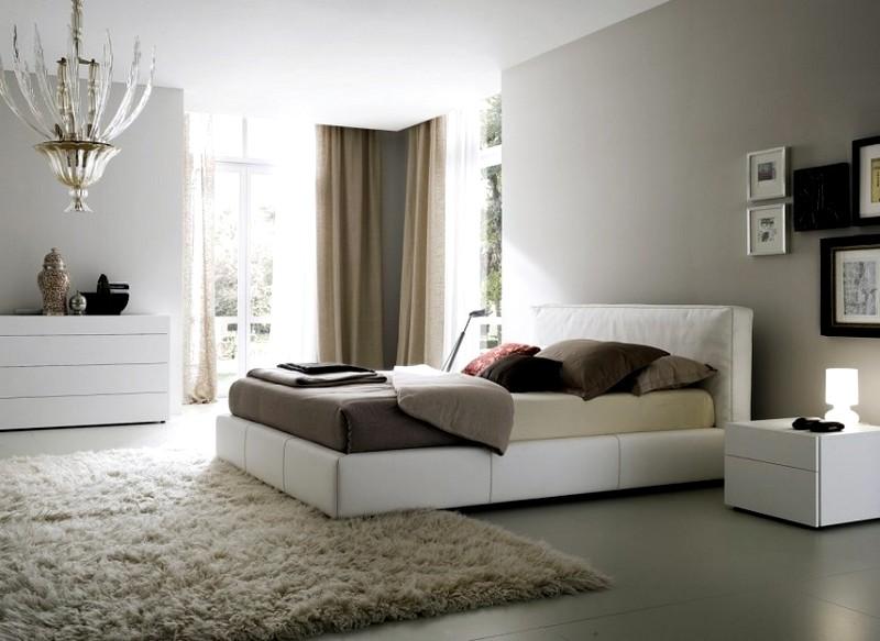 Design della camera da letto in colori chiari. Camera da letto in ...