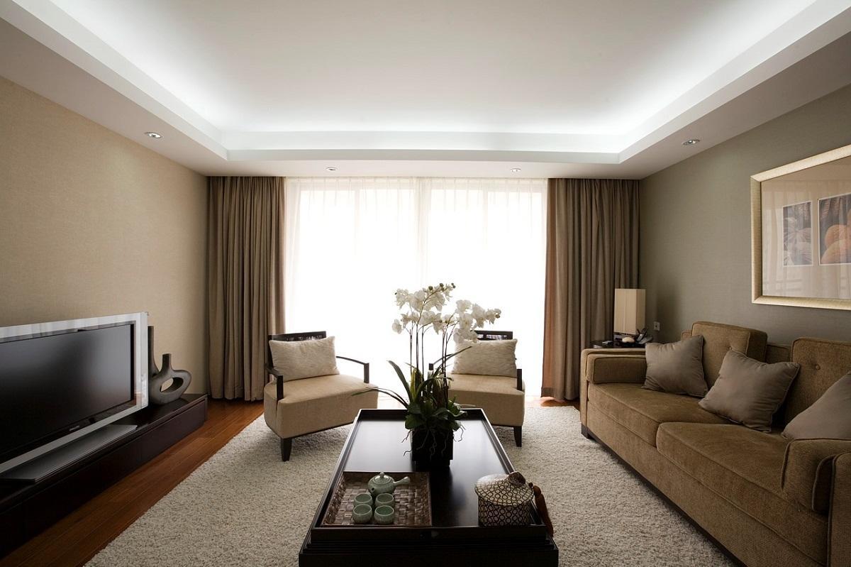 Cartongesso Salotto : Soffitti calcolati dal cartongesso al soggiorno soffitti da foto