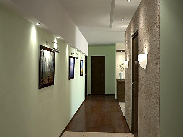Corridoio Di Design Nell Appartamento Interno Del Corridoio Dell