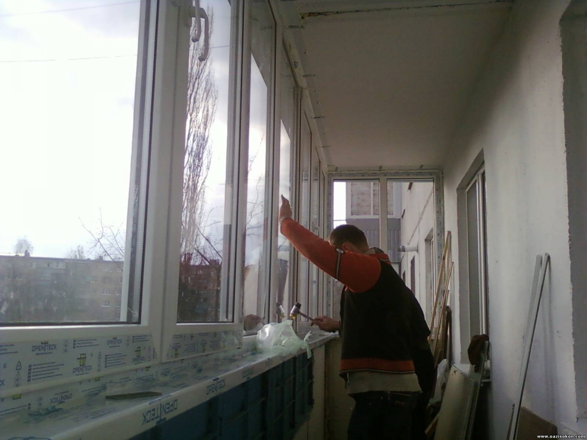 Ways of warming and finishing the loggia