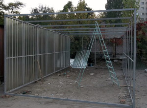 Сварить металлический гараж гараж из железа цена