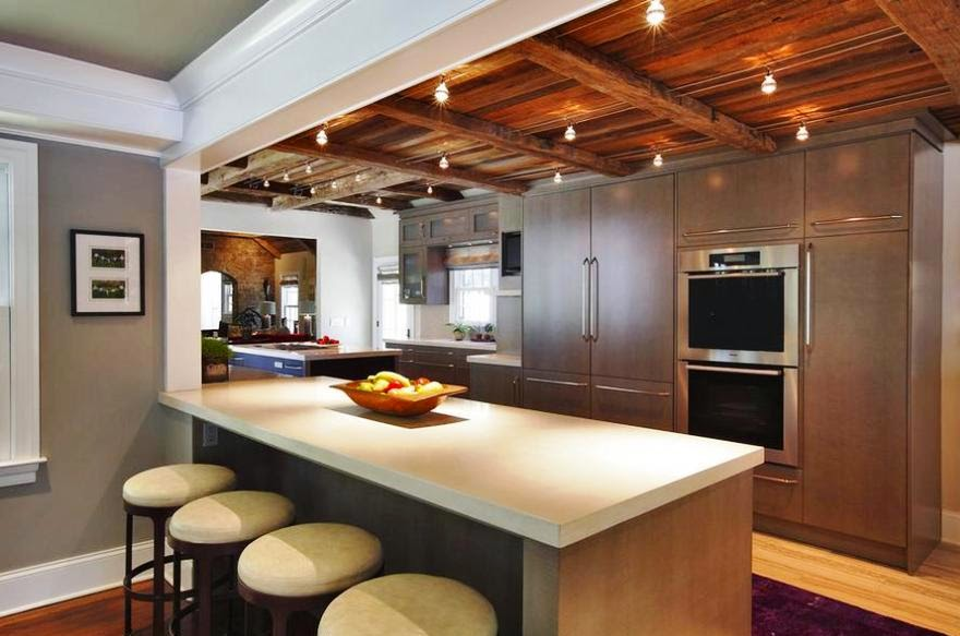 Design Of A Ceiling For Kitchen From Metal Stylish Design Of