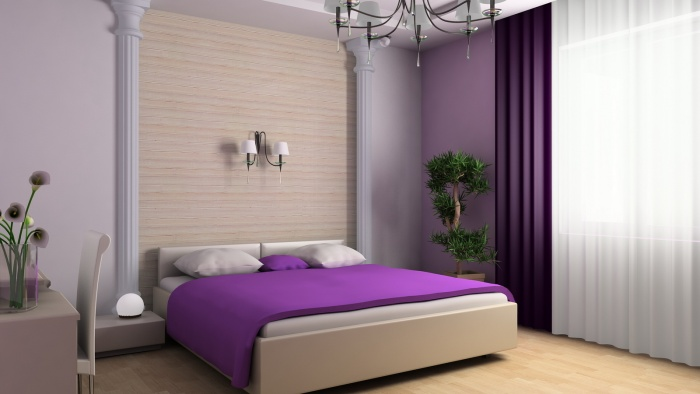 . How to combine two types of wallpaper in the bedroom  Combining